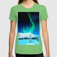 Aurora BorealiS Womens Fitted Tee Grass SMALL