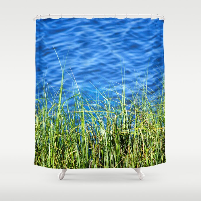 Blue And Green Shower Curtain By Cara Moulds Society6