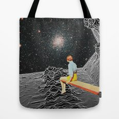 unknown pleasures to Infinity Tote Bag