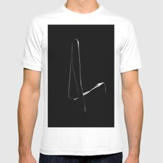 L A D Y White Mens Fitted Tee SMALL