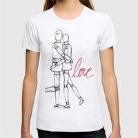Love II Womens Fitted Tee Ash Grey SMALL