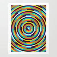 con·cen·tric Art Print