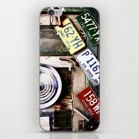 Vintage license plates iPhone & iPod Skin
