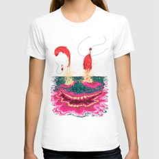 Fisgados Womens Fitted Tee White SMALL