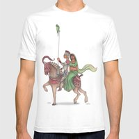 Indian Knight Mens Fitted Tee White SMALL