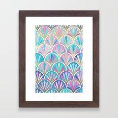 Glamorous Twenties Art Deco Pastel Pattern Framed Art Print