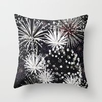firework flowers Throw Pillow
