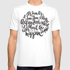 grand adventure SMALL Mens Fitted Tee White