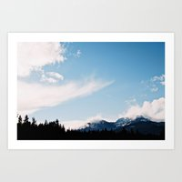 Clouds over the Mountains Art Print