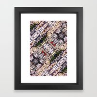 Scene Of City Structures Framed Art Print