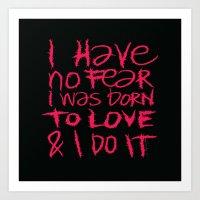I Have No Fear - Emilie … Art Print