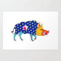 Fashion Animals, Spring … Art Print