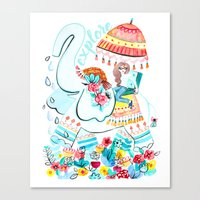 Explore Thai Elephant Travel Canvas Print