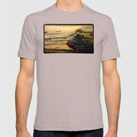 Sunset Wave Mens Fitted Tee Cinder SMALL