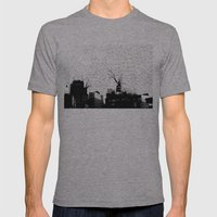 NYC Splatterscape Mens Fitted Tee Athletic Grey SMALL