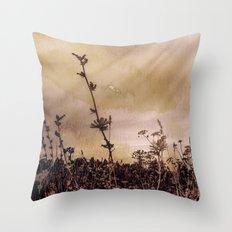 Last flowers of autumn Throw Pillow