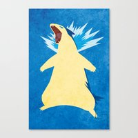 Blue Flame Typhlosion Canvas Print
