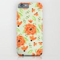Orange Spring Floral iPhone 6 Slim Case