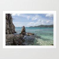 Caribbean Beach Photogra… Art Print
