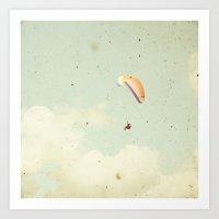 Alone in the sky Art Print