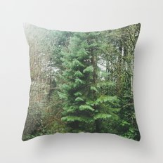 With the Trees Throw Pillow