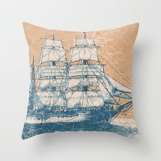 Age of Exploration Throw Pillow
