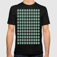 Mint Money Repeat Mens Fitted Tee Tri-Black SMALL
