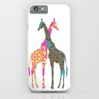 iPhone & iPod Case featuring Two Giraffes together by ialbert