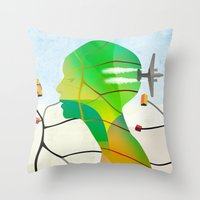 Mapas Throw Pillow