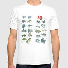 Animalzzz SMALL White Mens Fitted Tee