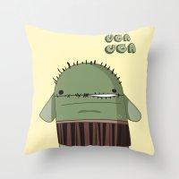 UGAH UGAH Throw Pillow