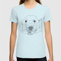 PolarBear- Womens Fitted Tee Light Blue SMALL