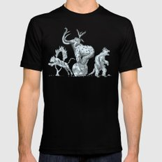 Prehistoric Circus SMALL Black Mens Fitted Tee