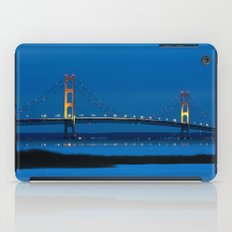 Mackinac Bridge at Blue Hour iPad Case