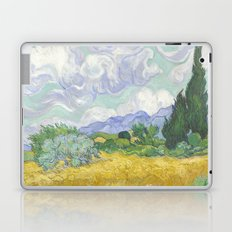 A Wheatfield with Cypresses by Vincent van Gogh Laptop & iPad Skin