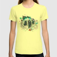 Old Elsie and the Storm Womens Fitted Tee Lemon SMALL