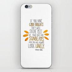 Sunbeams iPhone & iPod Skin