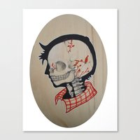 Boy Next Door - Silhouette and Anatomy Love Painting Canvas Print