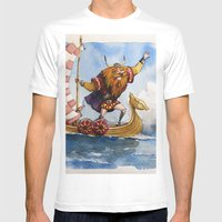Viking Mens Fitted Tee White SMALL