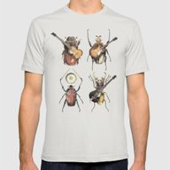 Meet The Beetles Mens Fitted Tee Silver LARGE