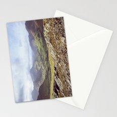 View of mountains on a sunny day. Cumbria, UK. (Shot on film). Stationery Cards