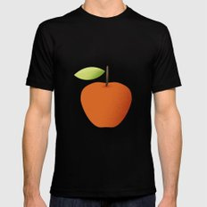 Apple 05 SMALL Black Mens Fitted Tee