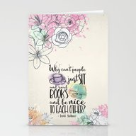 Why Can't People Just Si… Stationery Cards