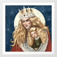 The Golden King And His … Art Print