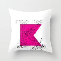 K (abstract Geometrical … Throw Pillow