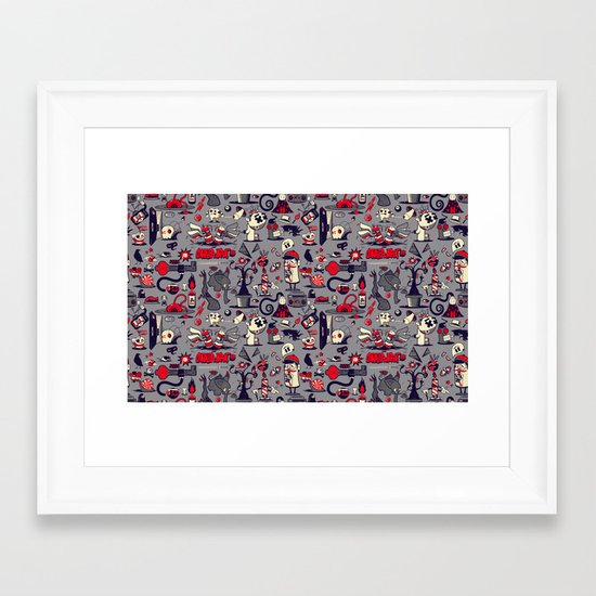 I'm Sensing A Pattern Here Framed Art Print