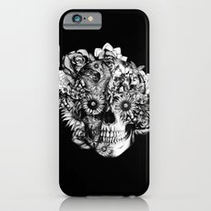 Floral Ohm skull from hand and digital illustration.  iPhone 6 Slim Case