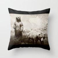brother bears Throw Pillow