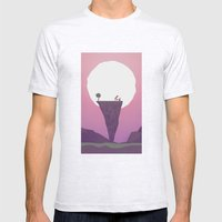 Another Full Moon Mens Fitted Tee Ash Grey SMALL