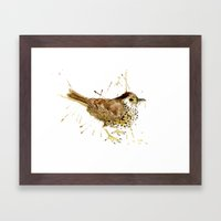 Mr Thrush Framed Art Print